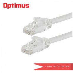 Optimus 2 Meters CAT 5E Lan Cable- White