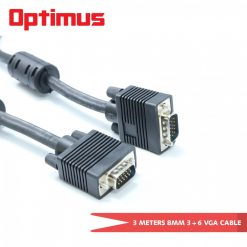 Optimus 3 Meters 8mm 3+6 VGA Cable