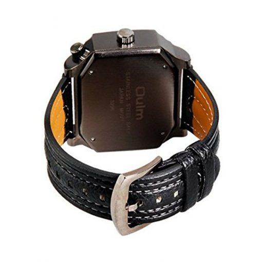 Oulm 3 Time Zones Cross Shape Men's Quartz Watch - Blue
