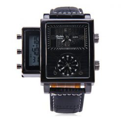 Oulm Digital Day Alarm Wrist Watch - Black