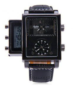 Oulm Digital Day Alarm Wrist Watch - Black