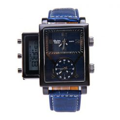 Oulm Digital Day Alarm Wrist Watch - Blue