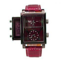 Oulm Digital Day Alarm Wrist Watch - Red
