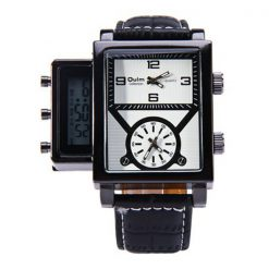 Oulm Digital Day Alarm Wrist Watch - White