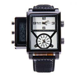 Oulm Digital Day Alarm Wrist Watch - White