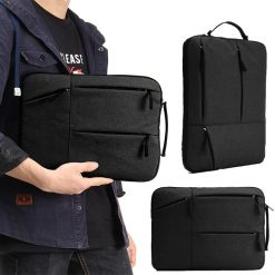 Portable 13.5 inch Laptop Sleeve Oxford Laptop Bag - Black