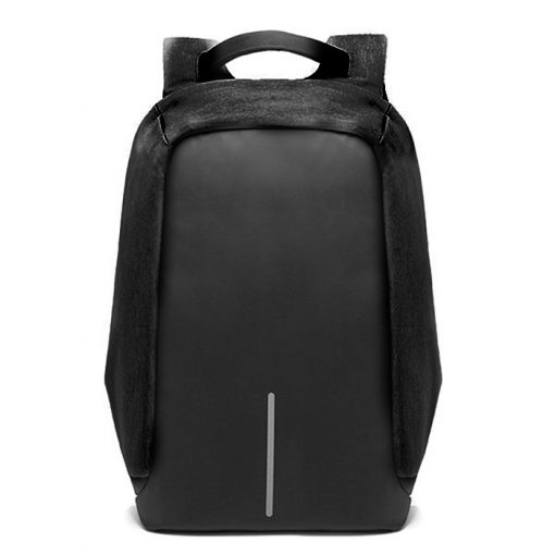 Oxford Travel Laptop Backpack With USB Output Socket For Powerbank - Black