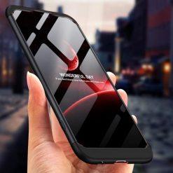 GKK Huawei P20 360 Full Protection Case - Black