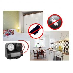 PIR Motion Activated Sound and Light Animal Repeller