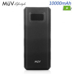 MϋV 10000mah Quick Charge 3.0 Powerbank With  Consumption Indicator - Black
