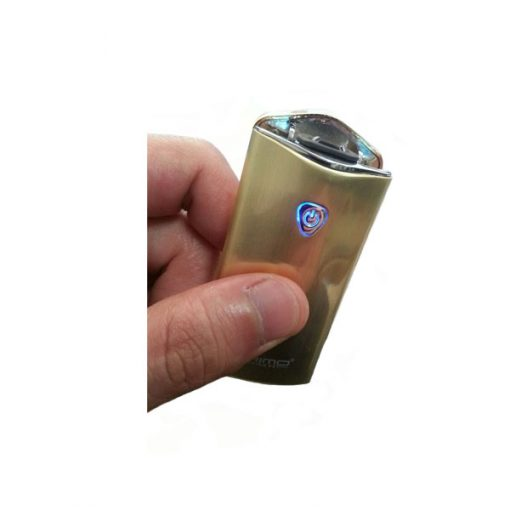 PRIMO Metal Finish Wind Proof USB Rechargeable Arc Lighter - Gold