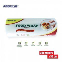 Food Wrap Polyethylene Stretch Film 300 Meters x 30 cm - Transparent