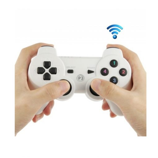 PS3 Compatible Version 1.94 Double Shock III Wireless Controller - White