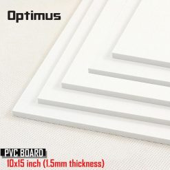 5 Pieces White PVC Illustration Board 10 x 15 inch 1.5 mm Thickness - White