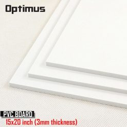 3 Pieces White PVC Illustration Board 15 x 20 inch 3 mm Thickness - White