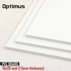 3 Pieces White PVC Illustration Board 15 x 20 inch 1.5 mm Thickness - White