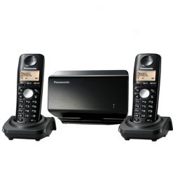 Panasonic KX-TW502SPBC 2 Phones in 1 Sim Cordless Type GSM Fixed Wireless Terminal - Black