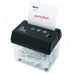 Mini Portable Paper Shredder with Paper Opener - Black