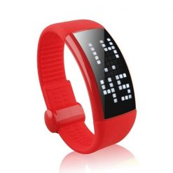 Personalized Signature 3D Pedometer Smart Watch - Red