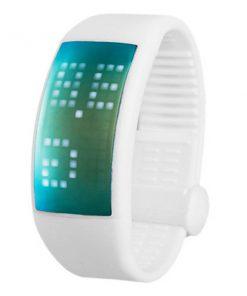 Personalized Signature 3D Pedometer Smart Watch - White