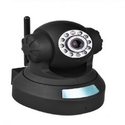 Phone APP Controlled Indoor P2P H.264 SD IP Camera With Pan Tilt And Zoom and SD Card Support - Black