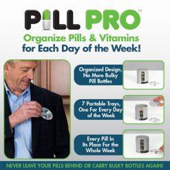Pill Pro 7 Days Pills And Vitamins Organizer - Gray