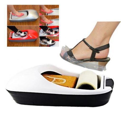 Plastic Shoe Cover Dispenser - White