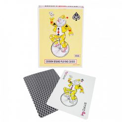 Huge Plastic Coated Playing Cards 17.5 x 12.5 cm - Black