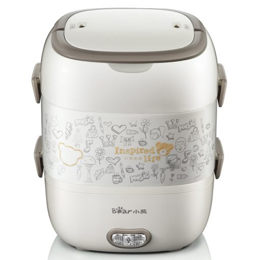 Playbear Electric Lunch Box Electric Mini Cooker and Steamer - Gray