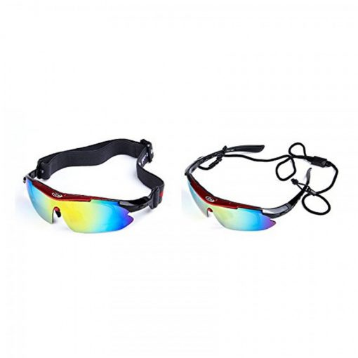 Polarize Sunglasses With 4 Interchangeable Colored Lens - Red