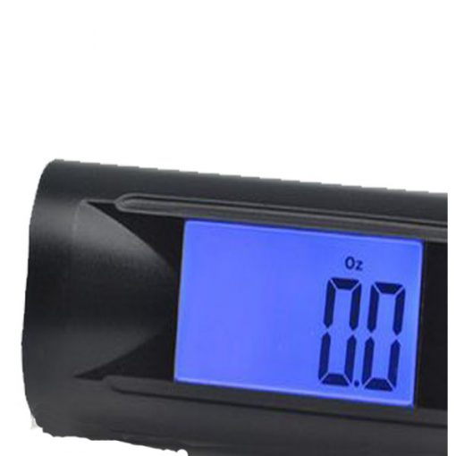 Electric Luggage Scale With LED Flashlight - Black