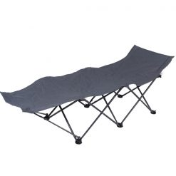 Outdoor Portable Folding Bed Chair with Carry Bag Camp - Gray