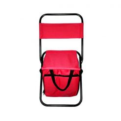 Portable Folding Chair with Storage Bag - Red