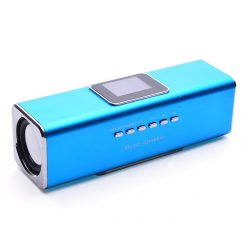 Portable Udisk SD FM Speaker - Blue