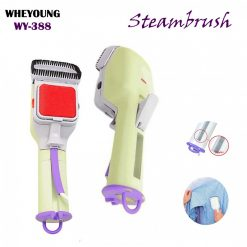 Portable Handheld Electric Cloth Steamer Fast Heat-up Garment Fabric Steamer Iron with Detachable Brush - Light Green
