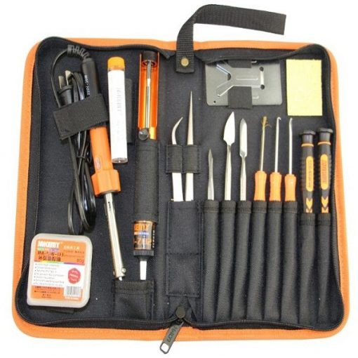 16 Piece DIY Mobile And Tablet Repait Set With Soldering Tool