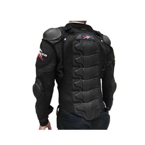 Pro Biker Motorcycle Hard Shell Safety Jacket Size XL - Black