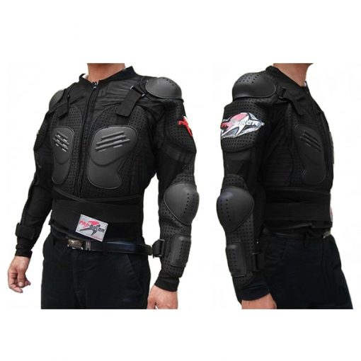 Pro Biker Motorcycle Hard Shell Safety Jacket Size XXL - Black