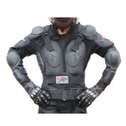 Pro Biker Motorcycle Hard Shell Safety Jacket Size XXXXL - Black
