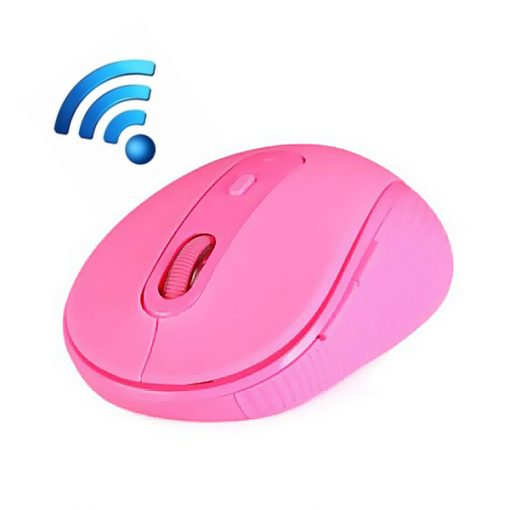 LGRF-6050 Wireless 2.4G Optical Silent Gaming Mouse - Pink