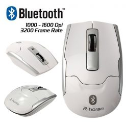 LGRF-9100 Wireless Bluetooth 3.0 Optical Slim Mouse - White