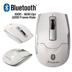 LGRF-9100 Wireless Bluetooth 3.0 Optical Slim Mouse - White