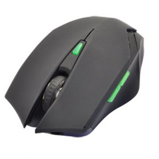 Adjustable 3200 DPI Laser Gaming Mouse - Black/ Green