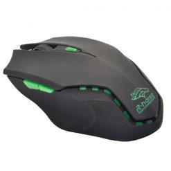 Adjustable 3200 DPI Laser Gaming Mouse - Black/ Green