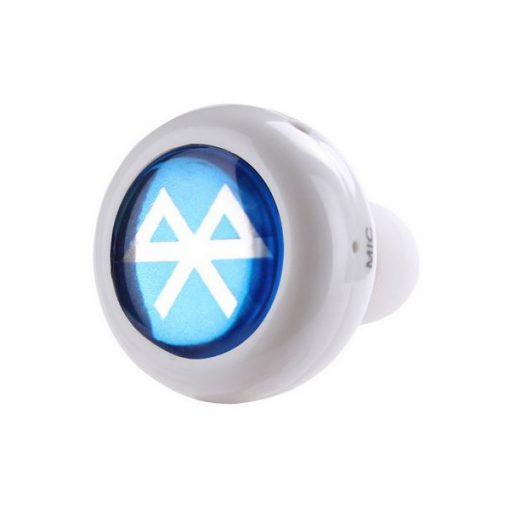 Mini Wireless Bluetooth Earphone Headset - White