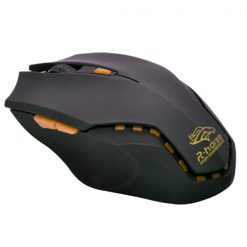 Adjustable 3200 DPI Laser Gaming Mouse- Black/Orange