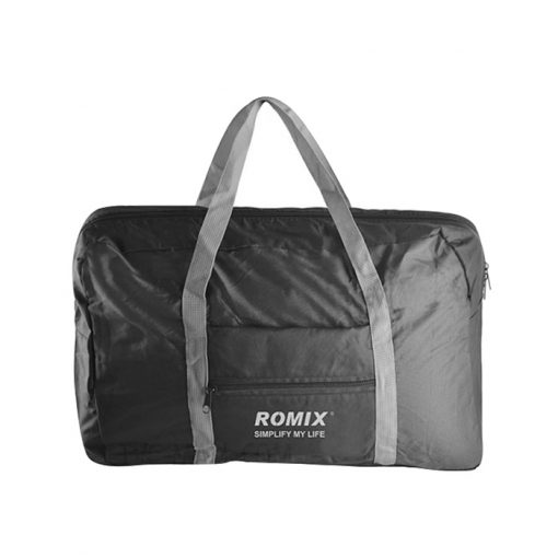 ROMIX RH43 Foldable Water Resistant Nylon Travel Luggage Bag - Black