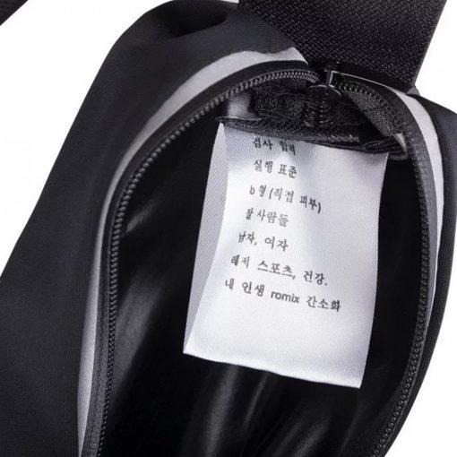 """Romix 5.5"""" Outdoor Touch Screen Sport Running Waterproof Purse Waist Bag - Black"""