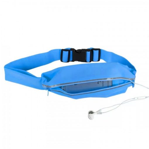 """Romix 5.5"""" Outdoor Touch Screen Sport Running Waterproof Purse Waist Bag - Blue"""