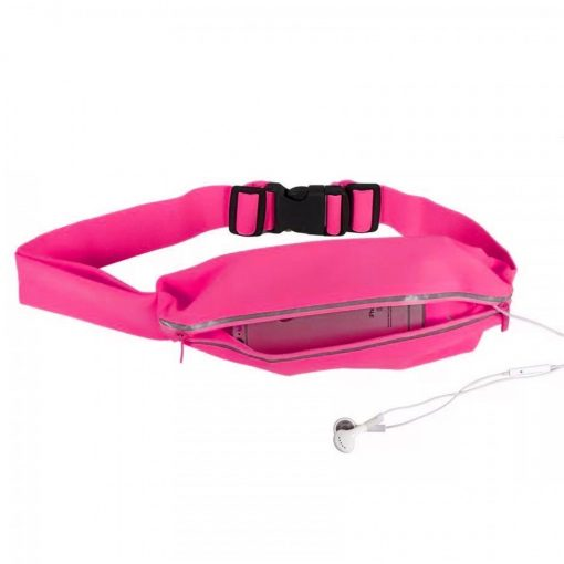 "Romix 5.5"" Outdoor Touch Screen Sport Running Waterproof Purse Waist Bag - Pink"